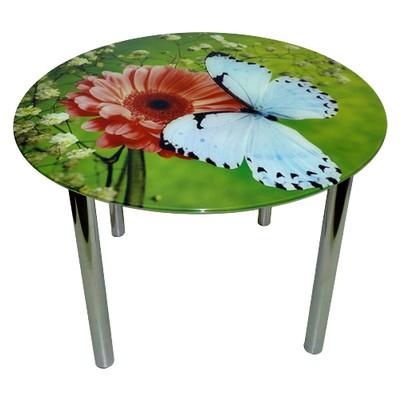 стеклянный стол бабочка