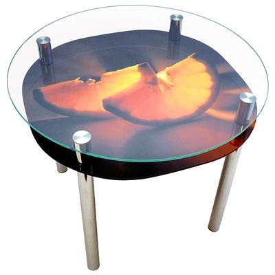 стеклянный стол апельсин
