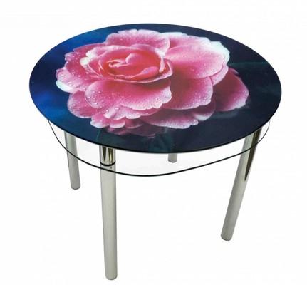 стеклянный стол роза