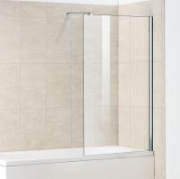Стеклянная шторка на ванну Волна 1