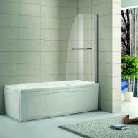 Стеклянная шторка на ванну Волна 2