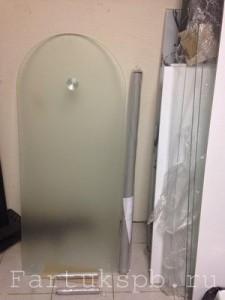 Стеклянная барная стойка из матового стекла