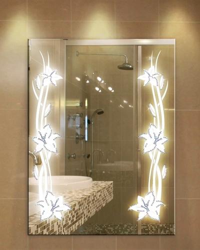 зеркало с подсветкой цветок