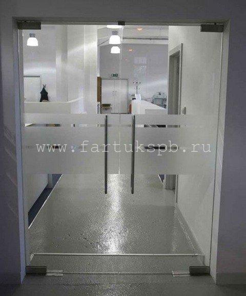 Маятникое двери из стекла