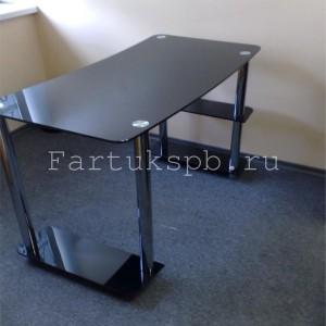 Стеклянный рабочий компьютерный столик