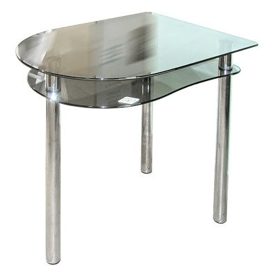 стол стеклянный серый