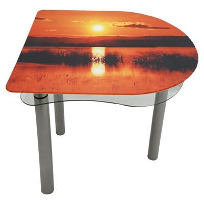 стеклянный стол закат
