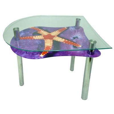 стеклянный стол морская звезда