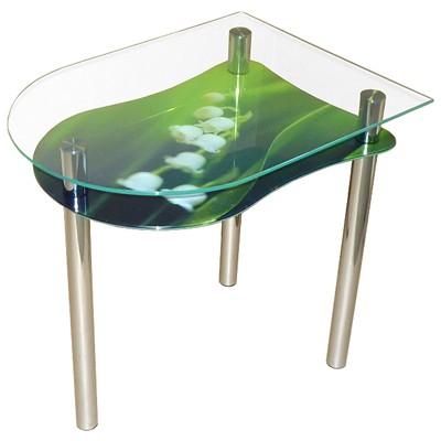 стеклянный стол ландыши