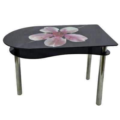 стеклянный стол лилия на черном