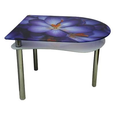 стеклянный стол фиолет